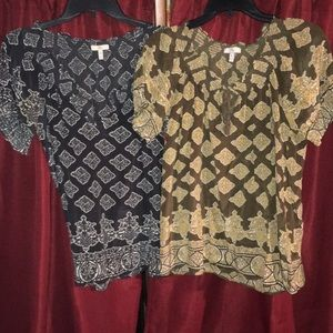 Women's Joie 100% silk shirts